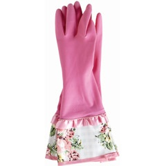 Jessie Steele Rubber Gloves Gingham Floral