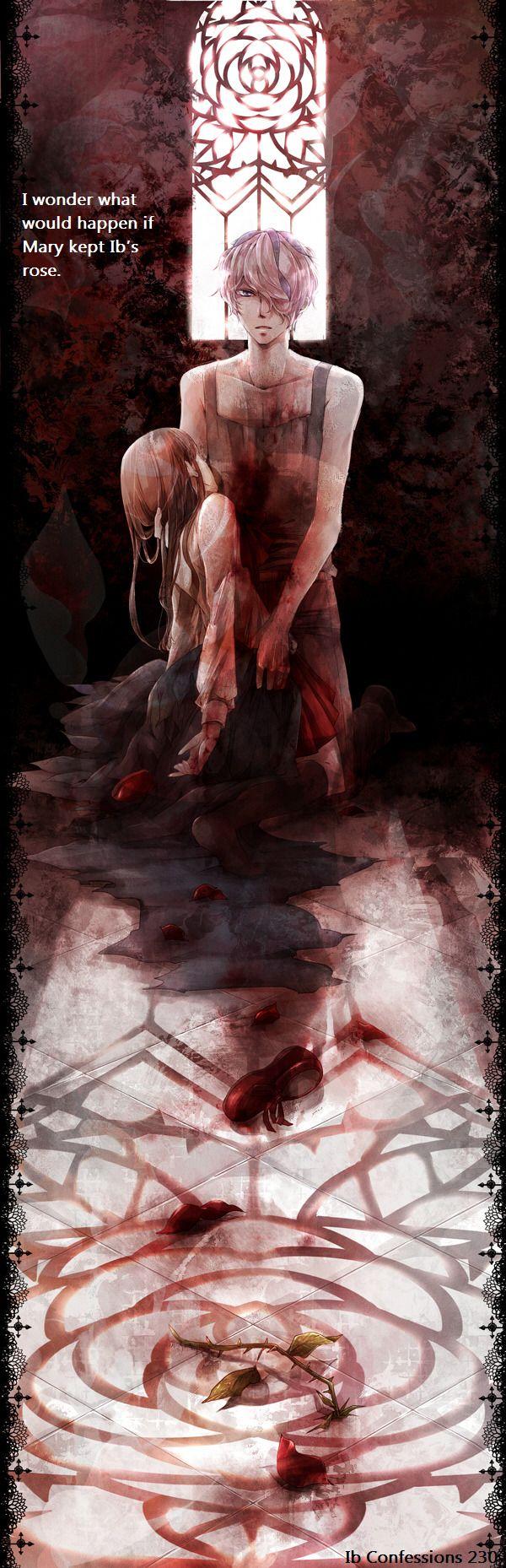 Confessor Art I wonder what would happen if Mary kept Ib's rose.