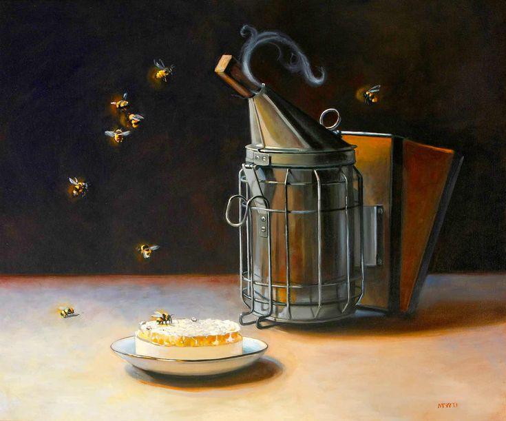 Cute Michelle Waldele OIL Bee Smoker