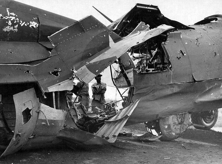 B17 battle damage