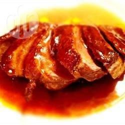 Recipe photo: Seared duck breasts with honey, soy and ginger I've made this it's delicious I also made stir fried veg and noodles to accompany it