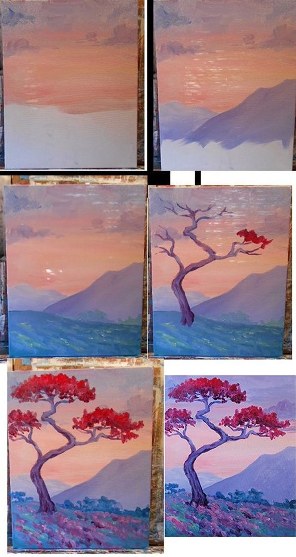 40 Easy Step By Step Painting Examples For Beginners Art