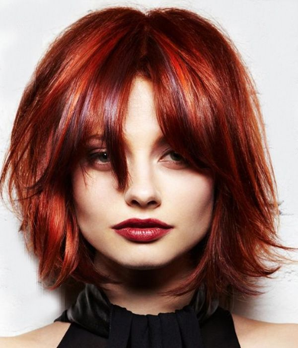 Short Red Wispy Hairstyles