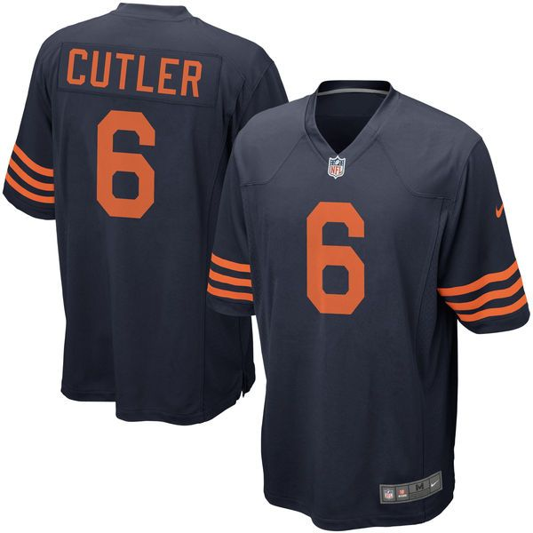 Jay Cutler Chicago Bears Nike Alternate Game Jersey - Navy Blue - $59.99