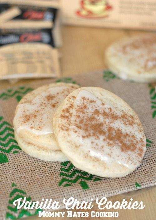 Vanilla Chai Tea Cookies #AmericasTea #Ad The Vanilla Chai in this recipe gives a very subtle flavor to the sugar cookies without being overpowering. These are so popular to make during the holidays and they're fantastic to give as a gift along with a box of your favorite Chai Tea attatched! Think how lovely your home will smell while these are baking!! Click through for the recipe... Mommy Hates Cooking