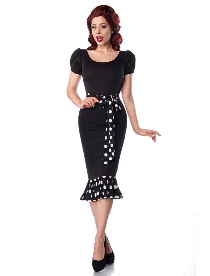 Hier findest du eine vielseitige Auswahl an tollen Kleidern, Teller-und Bleistiftröcken und Oberteilen im Rockabilly- Style!: Belsira Jersey Kleid