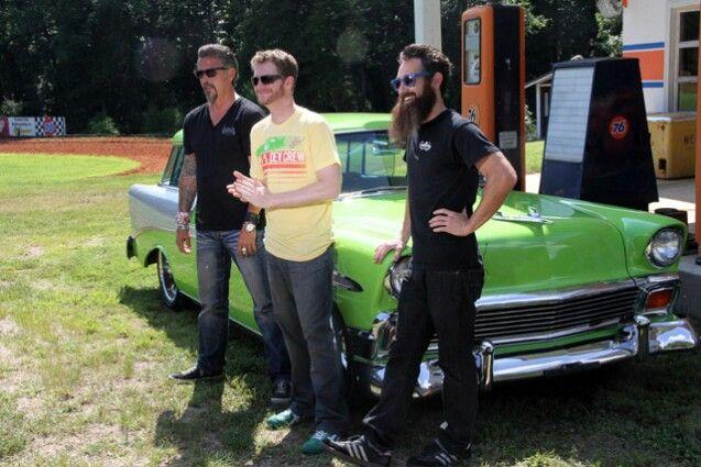 guys from Gas Monkey Garage @ Whiskey River 2013: Dale Jr, Gas Monkey