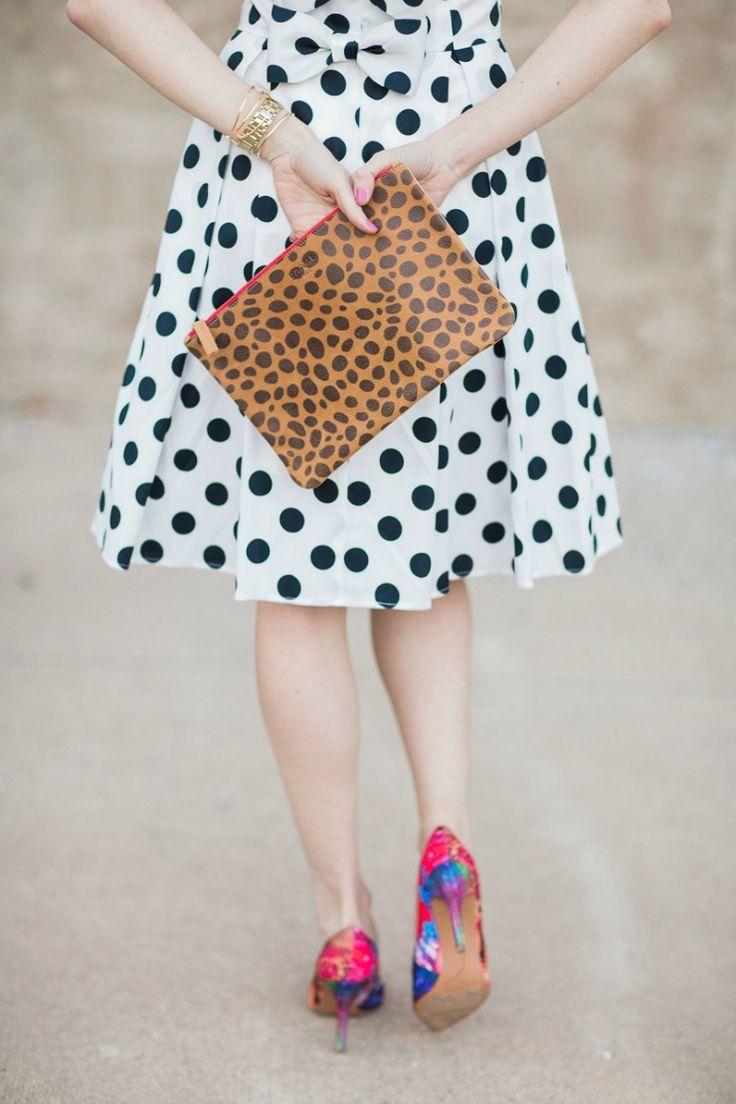 polka dot print dress | art in the find