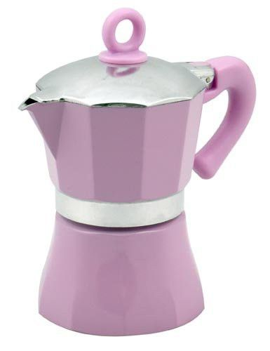 "Imperial Inox: ""Lady Sun"" Espresso Coffee Maker 3-Cups VIOLET [ Italian Import ]"