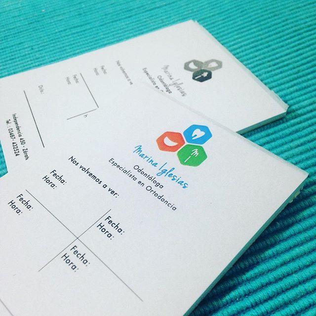 New stationery! Para Marina Iglesias 📃📄#design #stationery #graphicdesign #branding #brandingdesign #work #lovemyjob #logotype #designer #logo #colors #dentist
