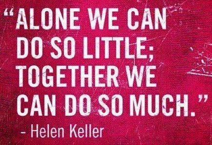 """Together we can do so much"" quote via www.Edutopia.org"