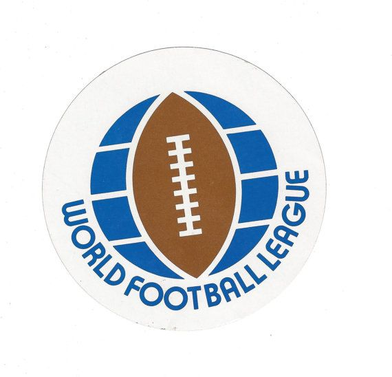 1970's World Football League WFL Jumbo 5 Sticker by FriscoAuctions