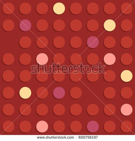 Retro background with red, magenta, pink and yellow circles #vectorpattern #patterndesign #seamlesspattern