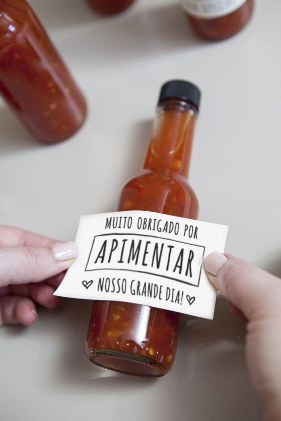 Mini pimenta para lembrancinha de casamento