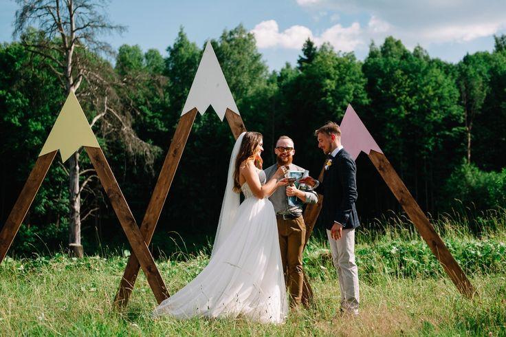 Вечеринка на заднем дворе: свадьба Андрея и Юли - Weddywood