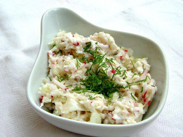Qchenne-Inspiracje! FIT blog o zdrowym stylu życia i zdrowym odżywianiu. Kaloryczność potraw. : Przepisy FIT: Wiosenna surówka z sosem jogurtowym ...