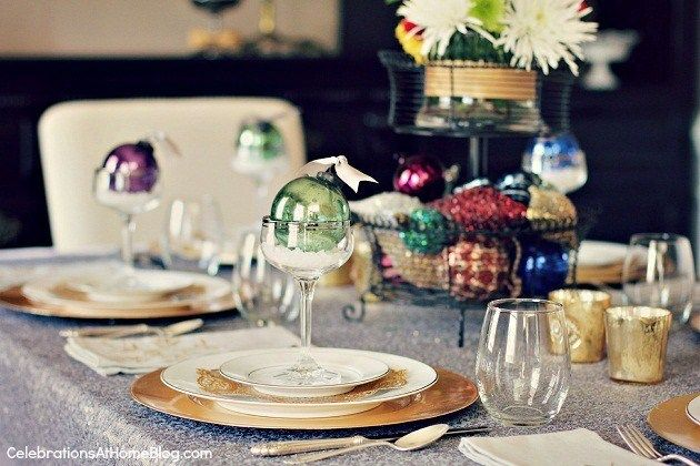 Christmas Tablescape Decorating With Ornaments