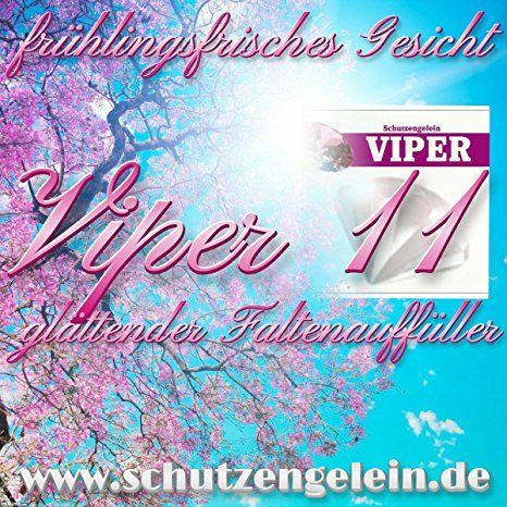 Viper 11, Antifaltencreme der Faltenfüller für Querfalten und Längsfalten, Hyaluron u. Schlangengift