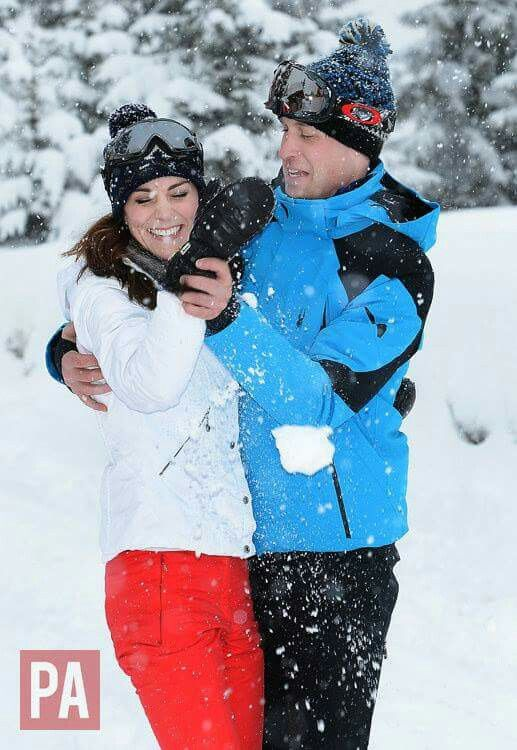 The Duke and Duchess of Cambridge are delighted to share these new photographs of their family, enjoying a skiing holiday with Prince George and Princess Charlotte in the French Alps. The Duke and Duchess invited the Press Association's Royal Photographer John Stillwell to take the photographs earlier in the week. This was their first holiday as a family of four and the first time either of the children have played in the snow. It was very special and a fun short holiday for the family a...
