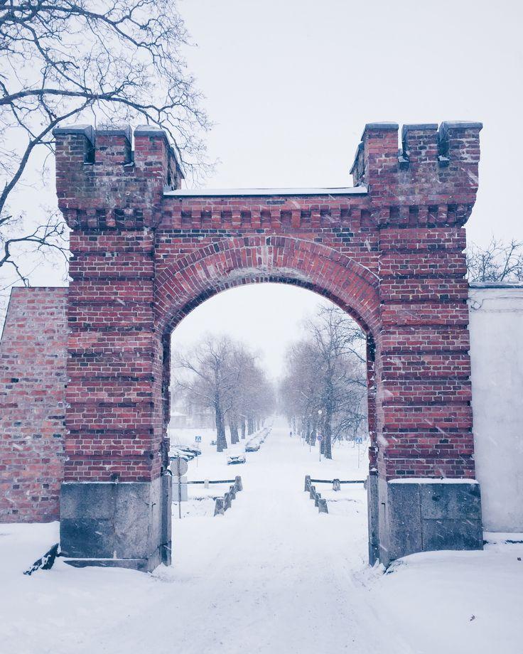 Snowing #hämeenlinna