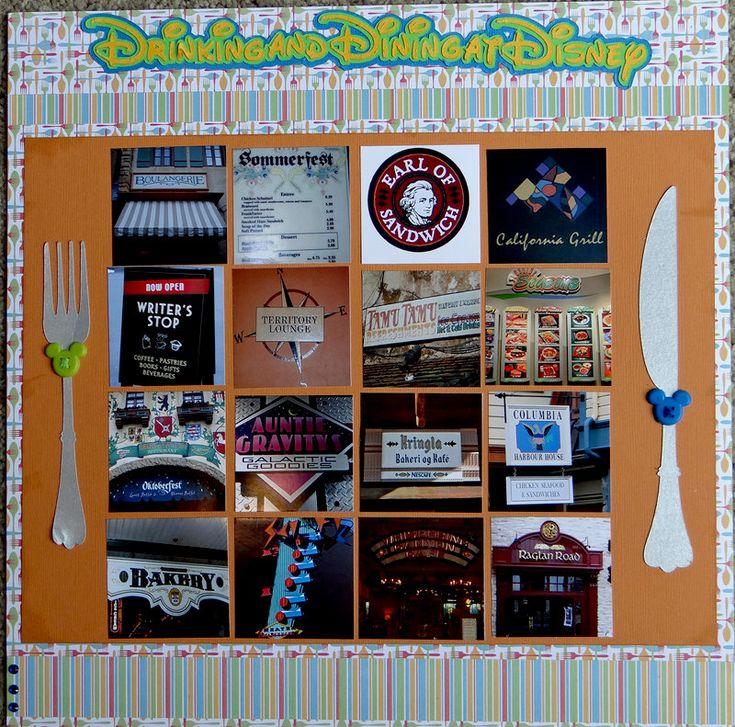 Best scrapbook disney restaurants food images on
