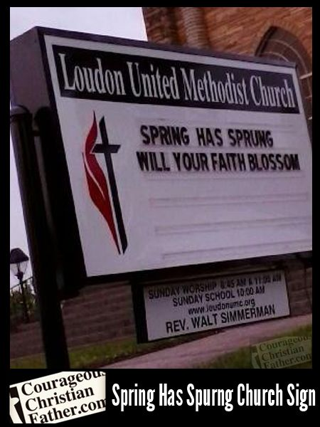 church sign about spring