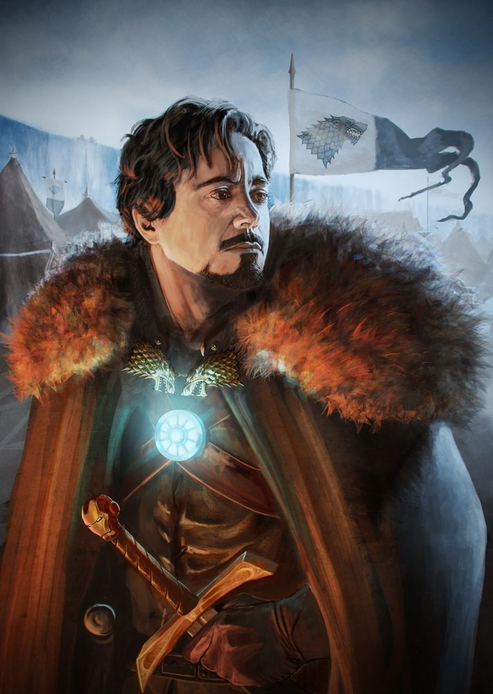 Lord Tony Stark. In my headcanon, Game of Thrones happened way back when, in the same universe as all the Marvel heroes, and Tony is a descendent of House Stark.