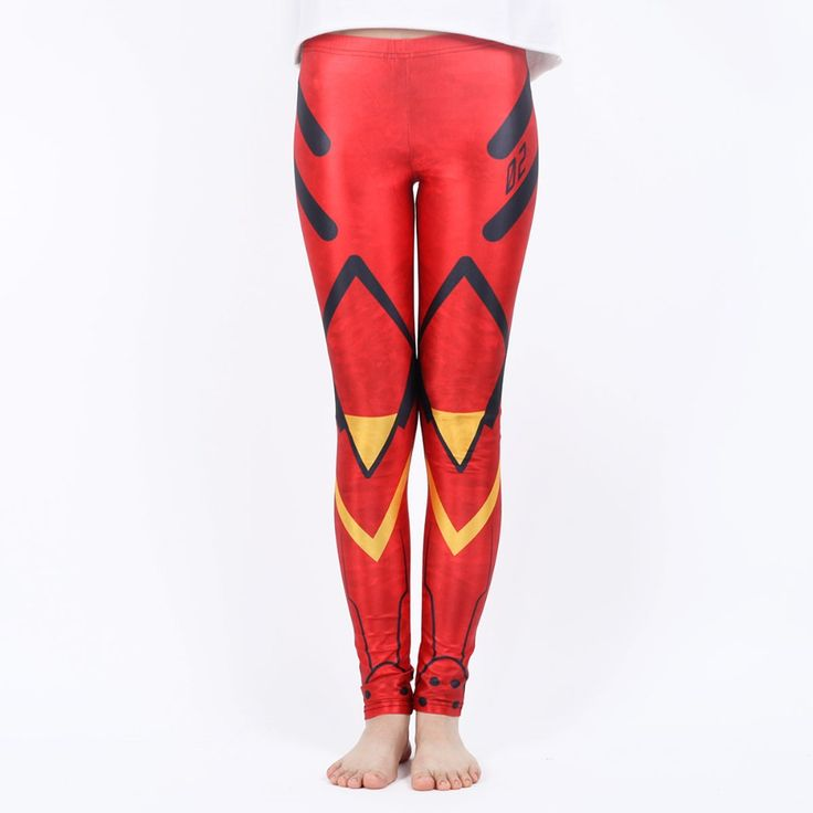 Геометрическая красный леггинсы спортивные брюки женщин сексуальный женщины леггинсы цифровая печать абстрактных геометрических леггинсы для женщин брюки