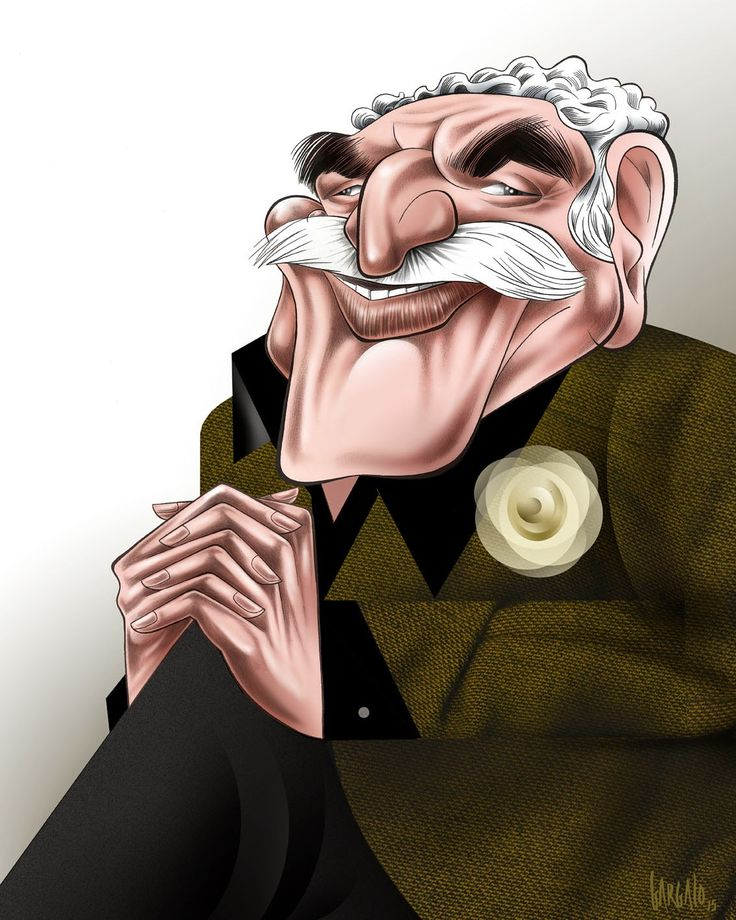 Gabriel Garcia Márquez, caricatura de Vasco Gargalo