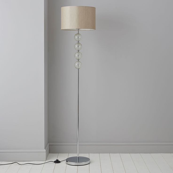 Gina Cream Chrome Effect Floor Lamp | Departments | DIY at B&Q