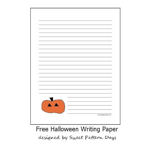 free printable halloween pumpkin writing paper - Printable Halloween Writing Paper