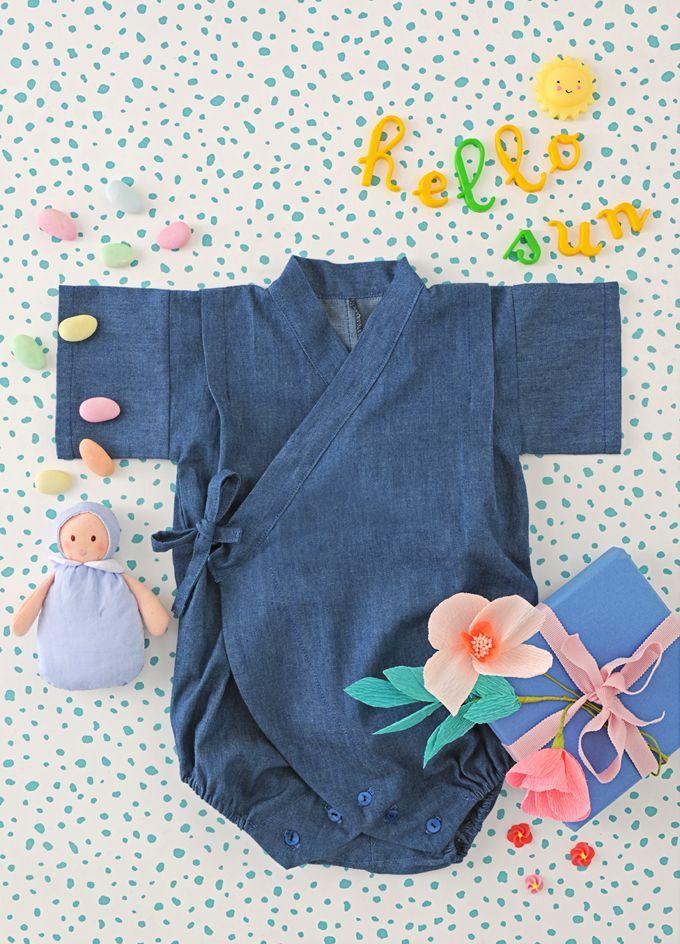 Coudre un petit kimono pour bébé   couture enfant fille   Pinterest   Baby  sewing, Sewing et Couture sewing 97dfe312686