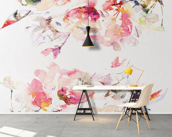 Removable wallpaper - Peel and stick - Wallpaper - Self adhesive wallpaper - Temporary wallpaper - Wall decor - Wall Mural - SKU: FlorWa