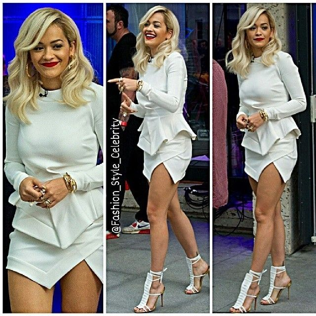 #ritaora #fashion #style #stylish #lookbook #look #gorgeous #reddress #red #blonde #BlondeHair #heels #legs #sandals #calvinharris #makeup #boyfriend #british #music #caradelevingne #bff #redlips #ootd #outfit #celebrity #dkny #chanel... - Celebrity Fashion