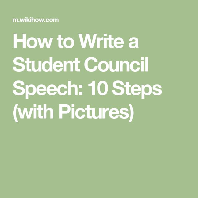 best student council speech ideas leadership  how to write a student council speech 10 steps pictures