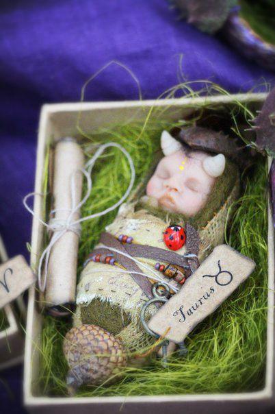 Эльф  Младенцы Телец Духи леса  Куклы Лии Кулеш