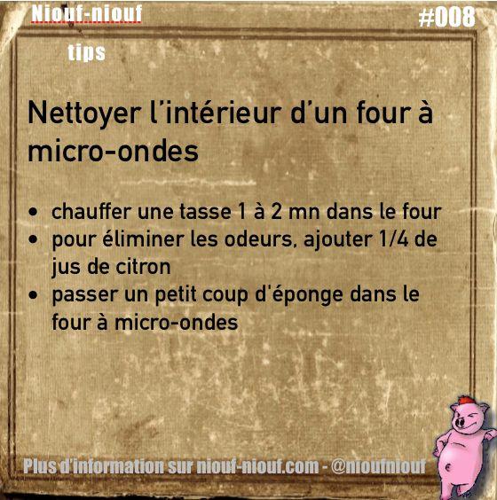 Tips Niouf-niouf :Nettoyer l'intérieur d'un four à micro-ondes #microondes #four #nettoyer #truc #astuce