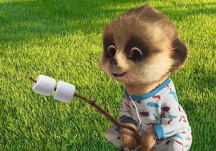 Baby Oleg camping out.