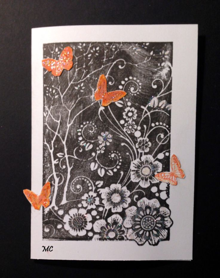 Chocolate Baroque - Butterfly Patchwork Rubber Stamp