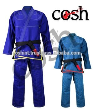 Blue With Black Belt New Brazilian Jiu Jitsu Gi / Fighting Kimono / Karate Suits / Uniform /Gear Suppliers COSH INTL-7931-F  https://www.alibaba.com/product-detail/Blue-With-Black-Belt-New-Brazilian_50031189038.html