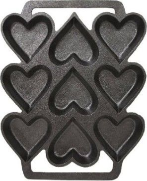 Cast Iron Heart-Shaped Cake Pan eclectic cookware and bakeware