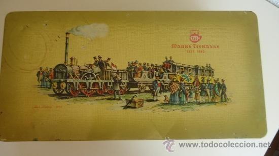 CAJA MARKE TEEKANNE SERIGRAFIADA CON TREN ANTIGUO DER ADLER 1835