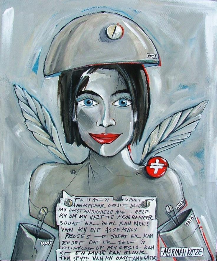 Painting by Mariaan Kotze
