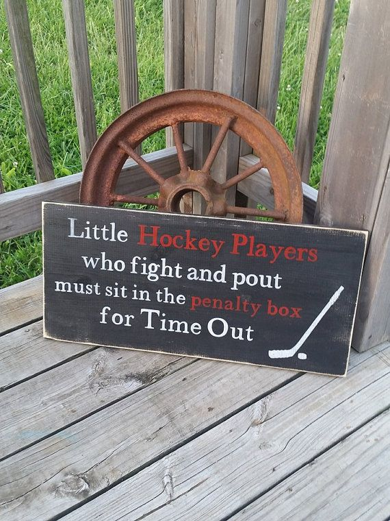 Hockey Sign  Time Out Hockey Sign  Toddler by RusticLaneCreations