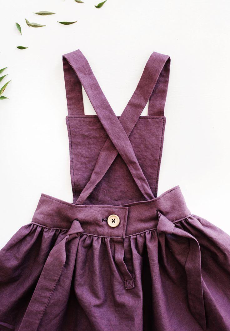 Beautiful Handmade Linen Pinafore Dress | Gypsyandfree on Etsy