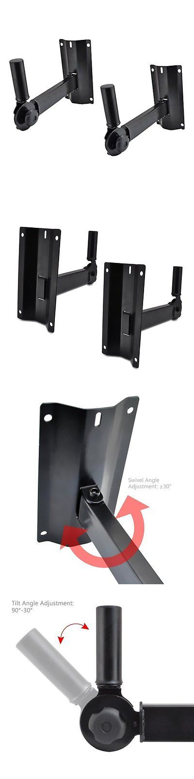 Speaker Mounts and Stands: Pyle Pstndw15 Dual Universal Adjustable Wall Mount Speaker Bracket Stands With -> BUY IT NOW ONLY: $34.47 on eBay!