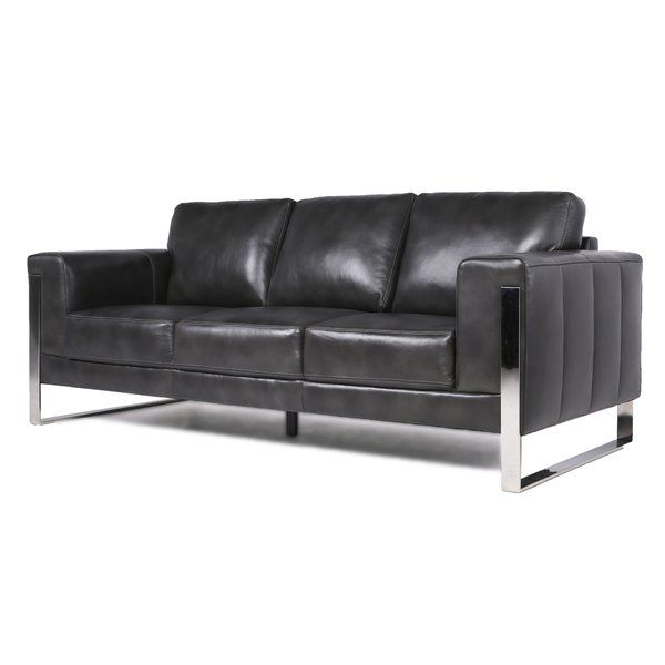 Olivarez Top Grain Leather Standard Sofa Sofa