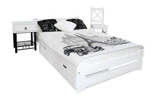 łóżko Drewniane Eureka 180x200 B Stelaż Sypialnia