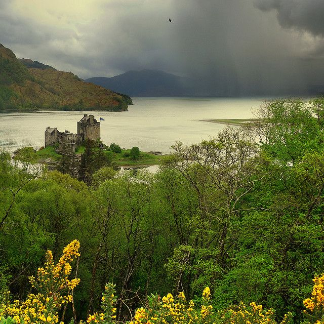 Eilean Donan, Scottish Gaelic for Island of Donan, is a small island in Loch Duich in the western Highlands of Scotland.