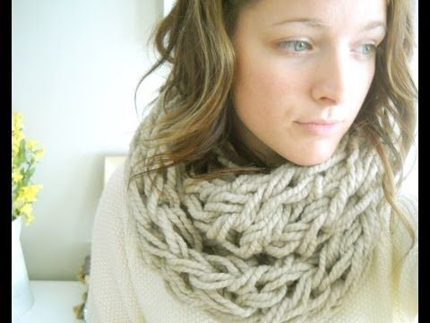 Arm Knit an Infinity Scarf in 30 Minutes - The Original Tutorial - With Simply Maggie (HD QUALITY)